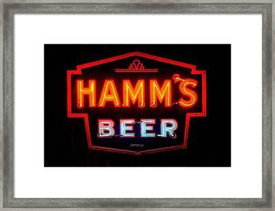 Hamm's Beer Framed Print