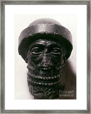 Hammurabi (d. 1750 B.c.) Framed Print by Granger