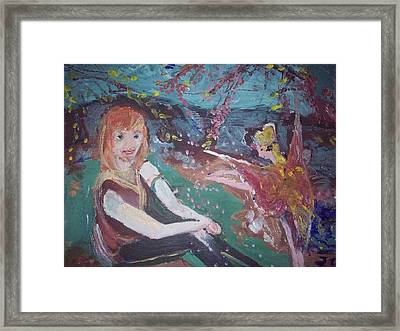 Framed Print featuring the painting Hammy Havoc by Judith Desrosiers
