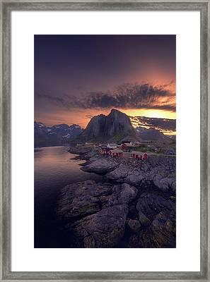 Hamnoey Sunset Framed Print by Tor-Ivar Naess