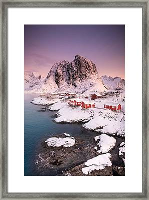 Hamnoy Framed Print by Alex Conu