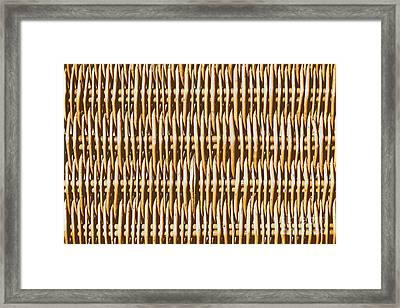 Hamper Texture Close Up Details Framed Print by Radu Bercan
