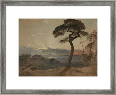 Hampstead Heath, Sunset Framed Print