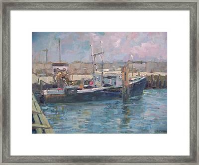 Hampton Bays Marina Framed Print