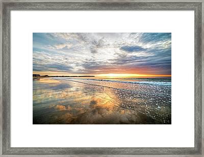 Hampton Beach Sunrise Hampton Beach State Park Hampton Nh Reflection Framed Print