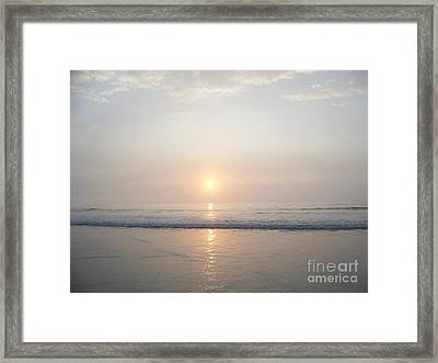 Hampton Beach Sunrise Framed Print by Eunice Miller