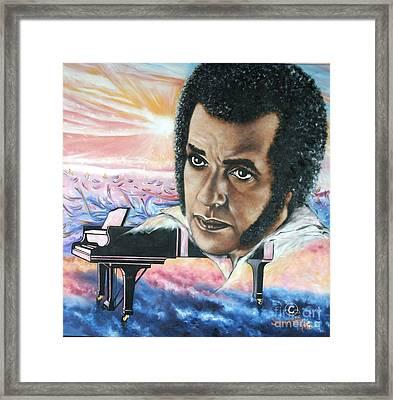 Blaa Kattproduksjoner       Hampton Hawes -jazz Pianist Framed Print