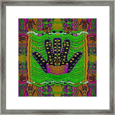 Hamsa Hands For Good Luck Framed Print by Pepita Selles