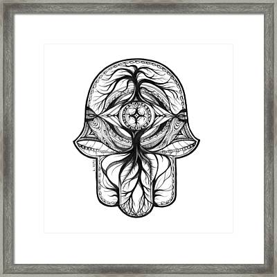 Hamsa - In The Forest Framed Print