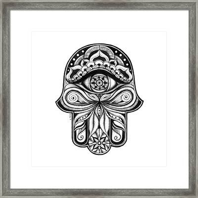 Hamsa - In The Garden Framed Print