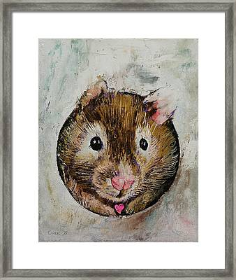 Hamster Love Framed Print by Michael Creese