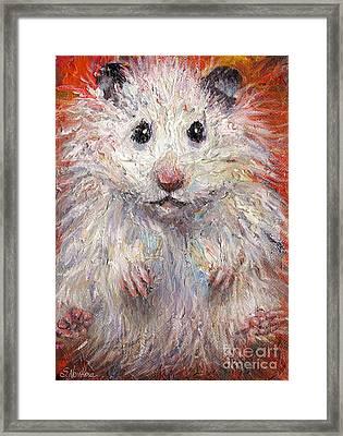 Hamster Painting  Framed Print