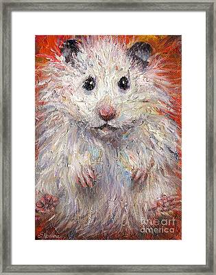 Hamster Painting  Framed Print by Svetlana Novikova