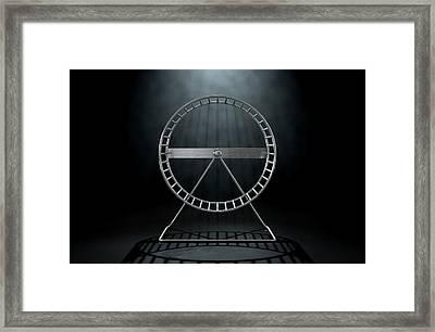 Hamster Wheel Empty Framed Print by Allan Swart