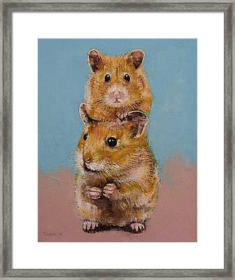 Hamsters Framed Print by Michael Creese