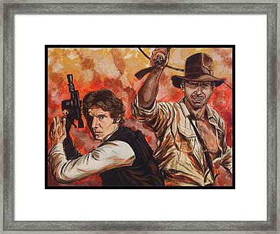 Han Solo And Indiana Jones Framed Print