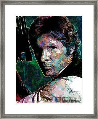 Han Solo Framed Print by Maria Arango