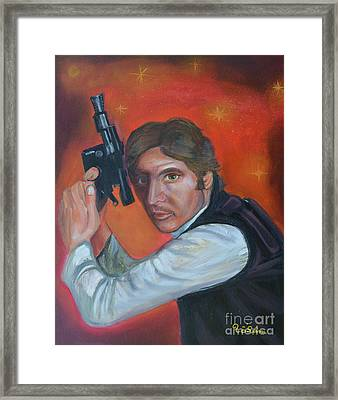 Han Solo Framed Print by To-Tam Gerwe