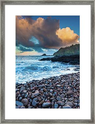 Hana Bay Pebble Beach Framed Print by Inge Johnsson