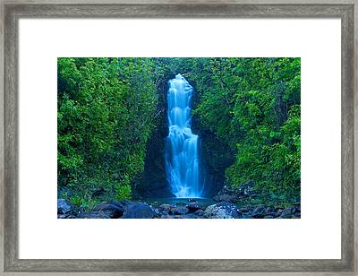 Hana Waterfall Framed Print