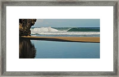 Hanakapiai Beach 1287b Framed Print