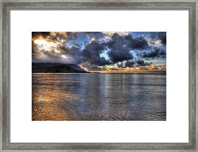 Hanalei Bay Hdr Framed Print by Kelly Wade