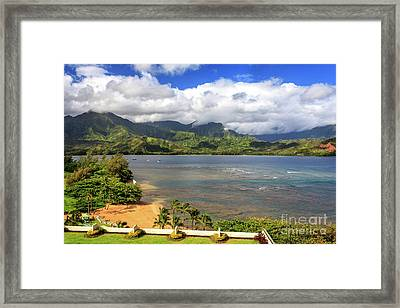Hanalei Bay Framed Print by James Eddy