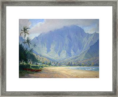 Hanalei Bay Morning Framed Print