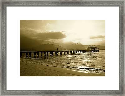 Hanalei Bay Pier Framed Print
