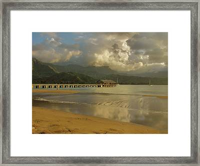 Hanalei Bay Reflections Framed Print by Stephen  Vecchiotti