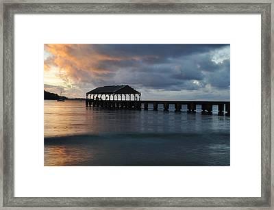 Hanalei Bay Sunset Framed Print