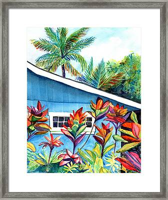 Framed Print featuring the painting Hanalei Cottage by Marionette Taboniar