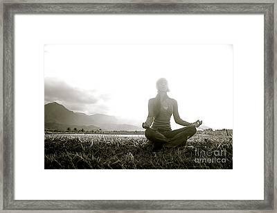 Hanalei Meditation Framed Print by Kicka Witte - Printscapes