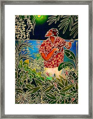 Hanalei Moon Framed Print by Angela Treat Lyon