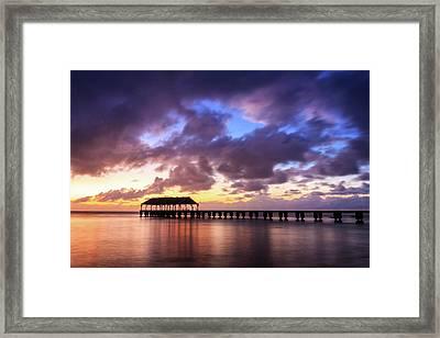 Hanalei Pier Framed Print by James Eddy
