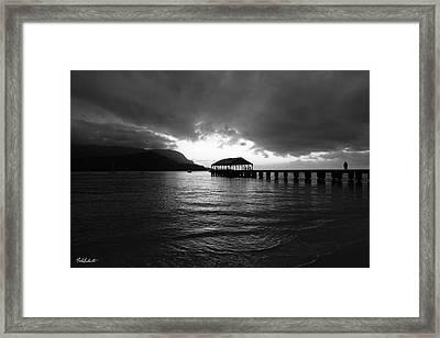 Hanalei Pier Framed Print