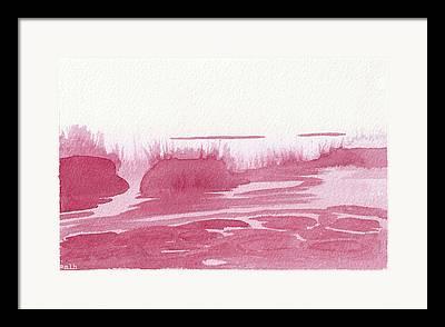 Alizarin Crimson Framed Prints
