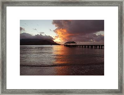 Hanalei Sunset Framed Print by Kelly Wade