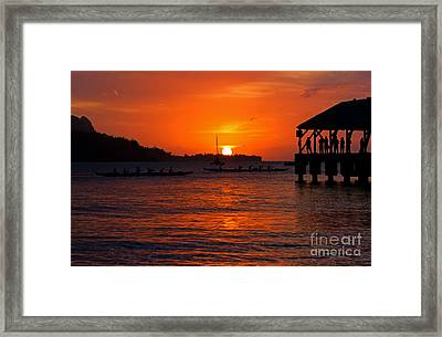 Hanalei Sunset Framed Print by Mike  Dawson