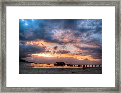 Hanalei Sunset Framed Print by Natasha Bishop