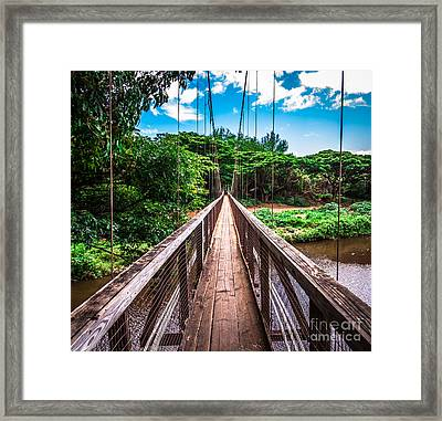 Hanapepe Bridge Framed Print