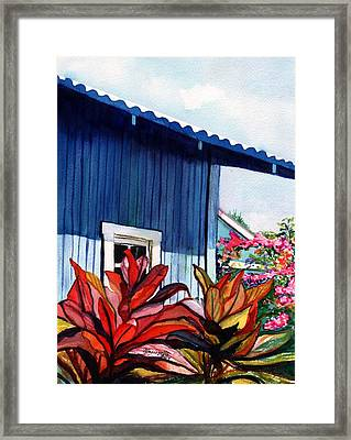 Framed Print featuring the painting Hanapepe Town by Marionette Taboniar