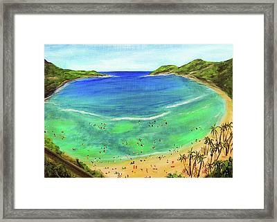 Hanauma Bay Hawaiian #336 Framed Print by Donald k Hall