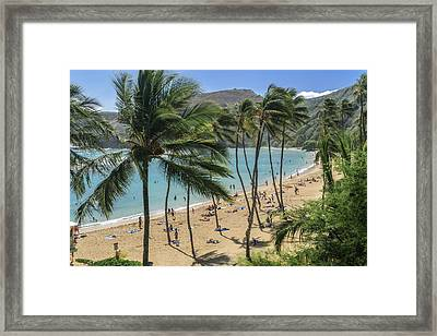 Framed Print featuring the photograph Hanauma Bay by Steven Sparks