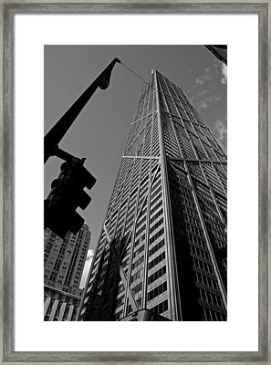 Hancock - Chicago - Framed Print by Miranda  Miranda