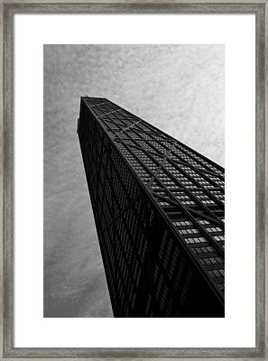 Framed Print featuring the photograph Hancock Building by Jane Melgaard
