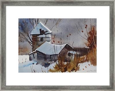 Hancock Farm Framed Print by Len Stomski