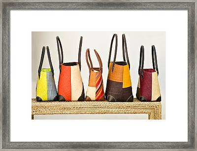 Hand Bags Capri Italy Framed Print by Xavier Cardell