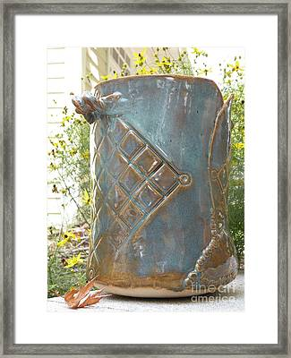 Hand Built Vessel- Wine Cooler Framed Print by Christine Belt