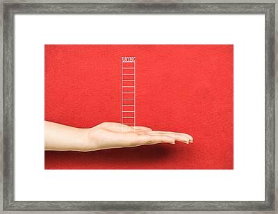 Hand Business Fear Framed Print by Dai Trinh Huu